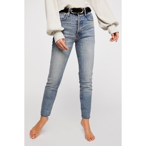 Free People Denim - Free People Button Fly Stella Skinny Jeans